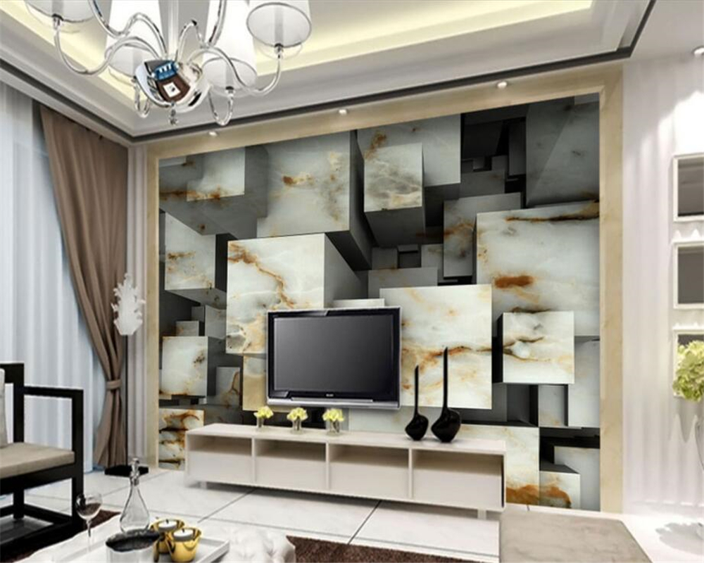 Beibehang Custom Wallpaper Home Decorative Fresco Natural Texture  -> Sala De Tv Com Sofa Cinza