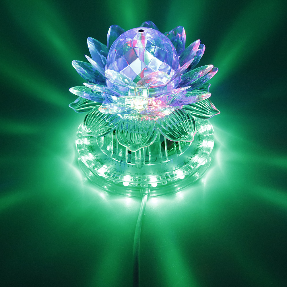 8w 48leds seven color sun pattern plastic stage lamp ac 90 240v - Disco Rgb Led Stage Light Auto Rotating Ball Lamp Effect Magic Party Club Lights For Christmas