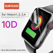Suntaiho 10D Full Cover Protector folia do Apple Watch Screen Protector 40 44mm do oglądania 4 filmów serii 1/2/3/4 nie szkło film