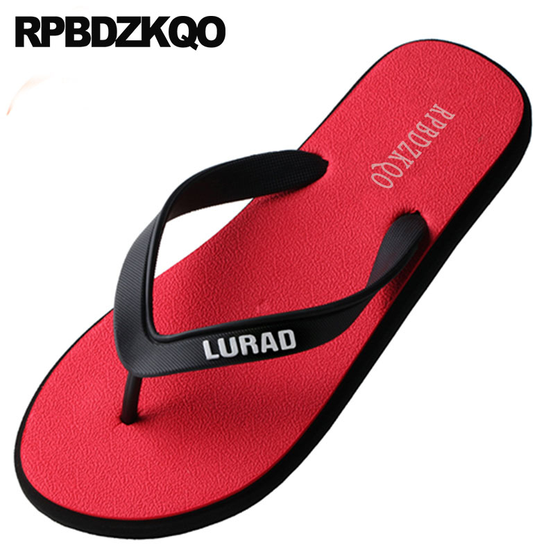 7f081cb9e9be Water Size 46 Rubber Slippers Beach Men Red Plus Mens Sandals 2018 Summer  Outdoor Large Slides 45 Waterproof Flip Flop Shoes