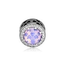 CKK Beads Original 925 Sterling Silver Jewelry Radiant Clover Charm Fits Pandora Bracelet Women Gift kralen berloques pulseras
