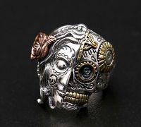Таиланд, красота и скелет тайское серебряное кольцо