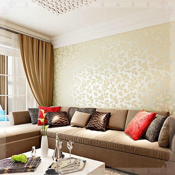 Warm Leaves 3d Wallpaper Design Living Room Bedroom Wood Fiber