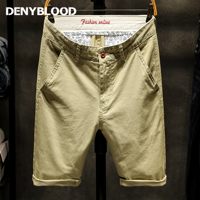 Denyblood Jeans Summer Fashion Mens Casual Shorts Cotton Chinos Shorts Bermuda Masculina Compression Shorts Plus Size Men 507