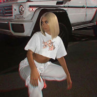 Angel Print Women Short Sleeve Casual Loose T-Shirt