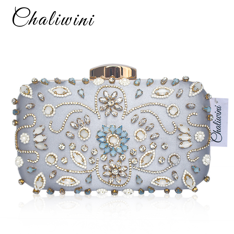 Pochette da sera da sera con pochette da sera borsa a tracolla con catena a forma di diamante con tracolla per donna
