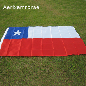 Free Shipping aerlxemrbrae flag 90*150cm Chile Flag 100% Polyester Flag Banner with 2 Grommets for Hanging(China)