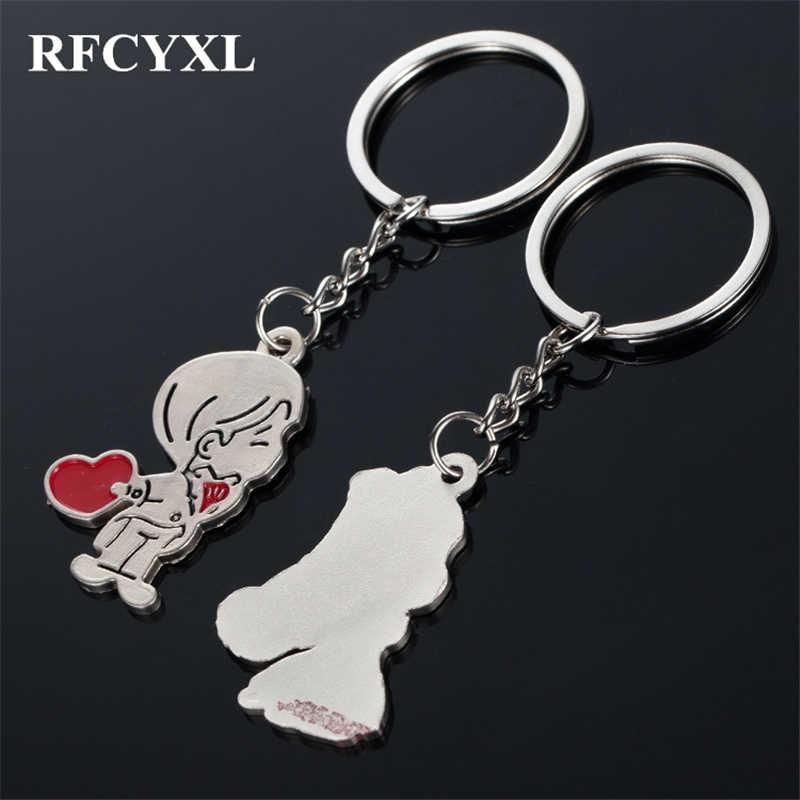 1 пара хит продаж парный брелок Аниме-брелок для ключей для мужчин женский подарок на день Святого Валентина на свадьбу