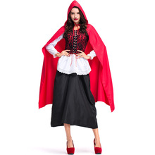 Umorden Womens Little Red Riding Hood Costumes Fancy Dress Halloween Carnival Masquerade New Year Party Cosplay Costume Outfit
