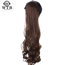 WTB Clip in Hair Extensions Synthetic Hair Tail Long Wavy Heat Resistant  Ponytail Hairpieces Fake Hairstyles недорого