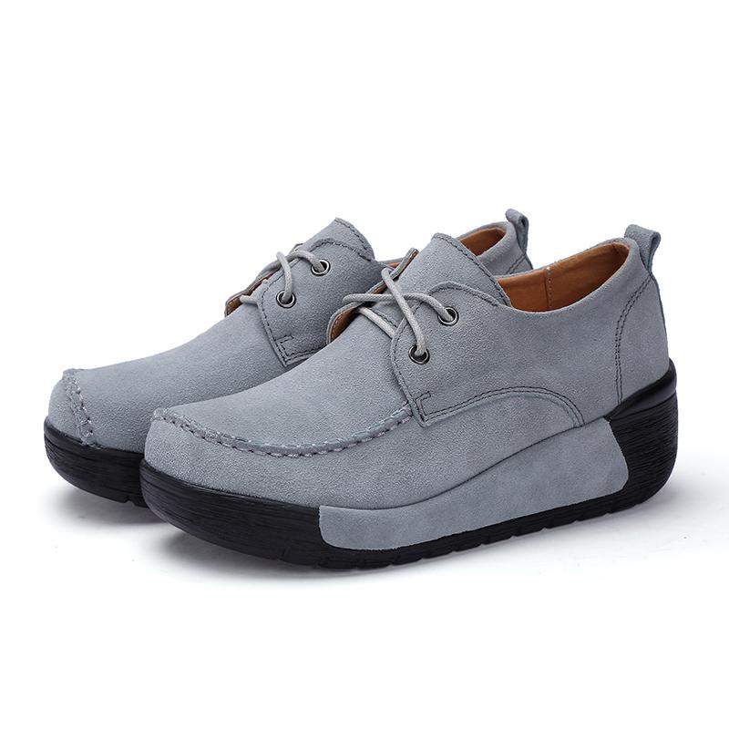 bf16d55590 Mulheres das sapatilhas de couro genuíno Sapatos de Plataforma de Mola Mulher  Sapatos Oxford Casuais trepadeiras Plus Size Artesanal Borboleta NóUSD ...