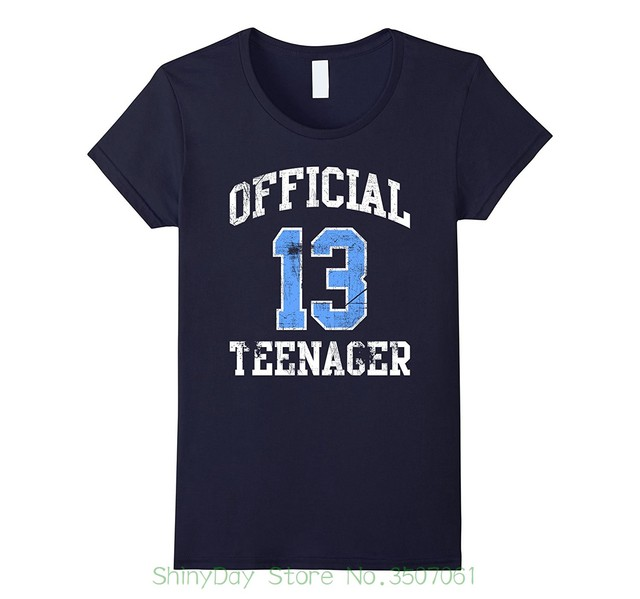 Round Neck Teenage Pop Top Tee Official Teenager Tshirt 13 Thirteen Birthday Shirt Boy Girl
