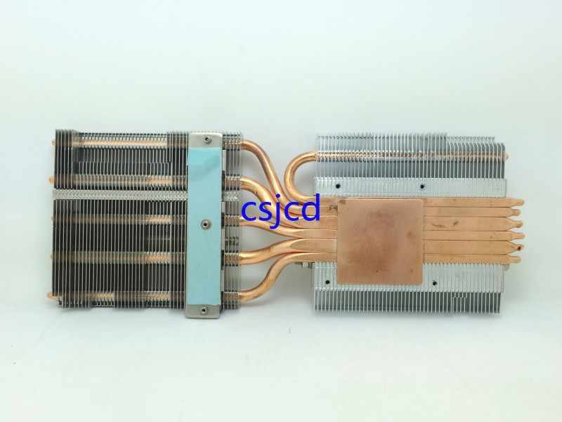 High-power LED underlying copper heat pipe radiator heat sink 6 DIY six heat pipe radiator graphics card modification FONSONING
