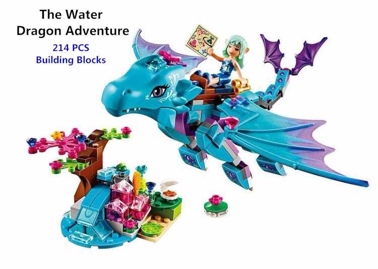 214pcs The Water Dragon Adventure Building Blocks Bricks DIY Educational toys Compatible with Lego Elves 41172