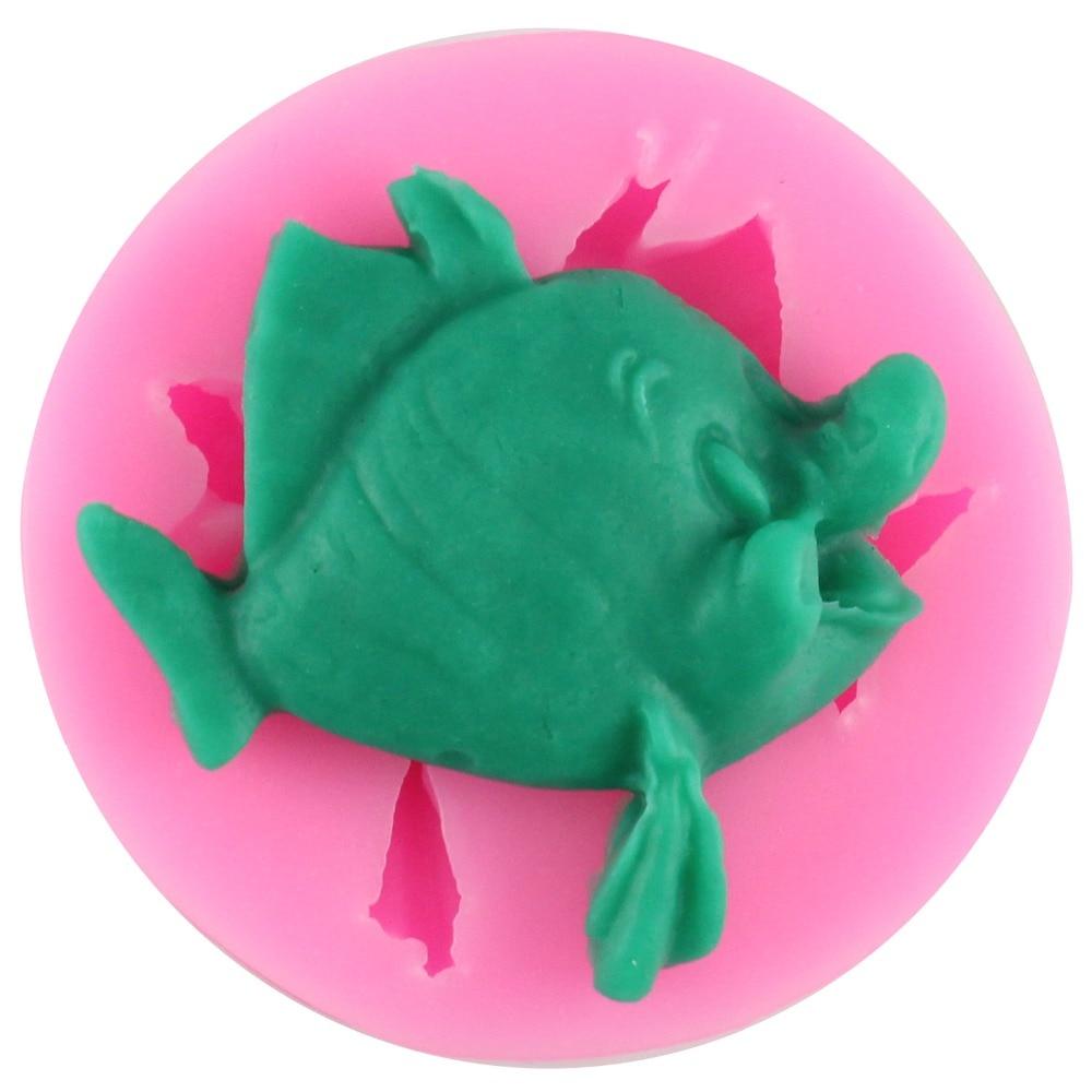 Peces en 3D de Silicona Del Molde Del Molde Fondant Cake Decorating Herramientas