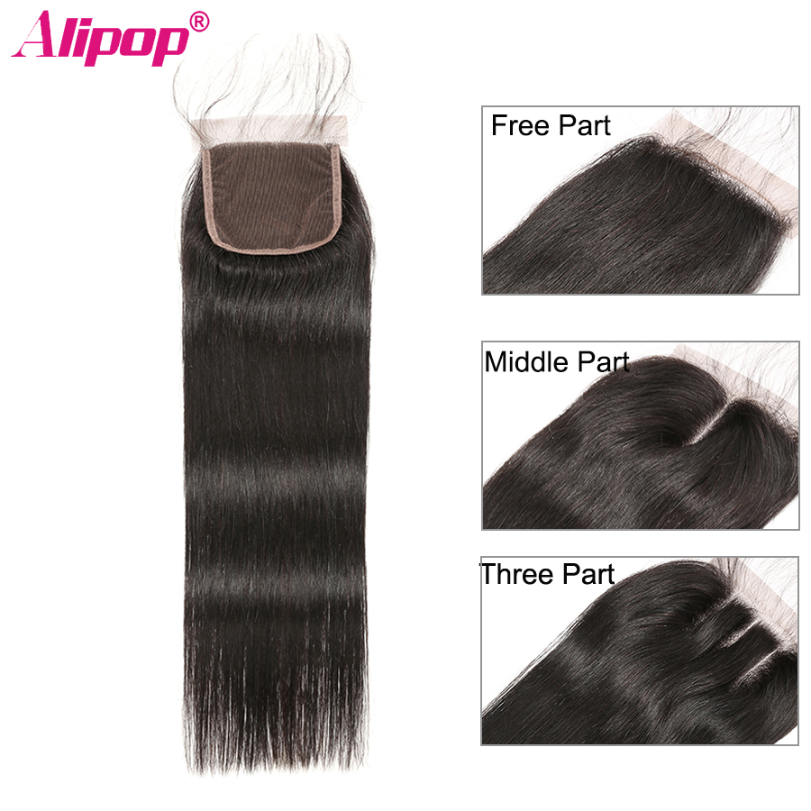 Peruvian Straight Closure 100 Remy Human Hair Lace Closure Top Swiss Lace Closure Free Middle Three