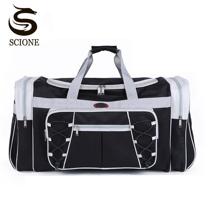 Sacs de voyage imperméables pour hommes sacs à bagages énormes sac polochon pour hommes fourre-tout de voyage Portable grand sac de week-end sac à bandoulière