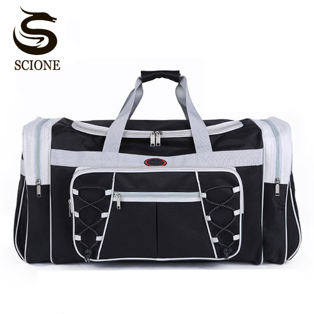 Waterproof Men Travel Bags Carry on Huge Luggage Bags Mens Duffel Bag  Portable Travel Tote Large b49d458d9701a