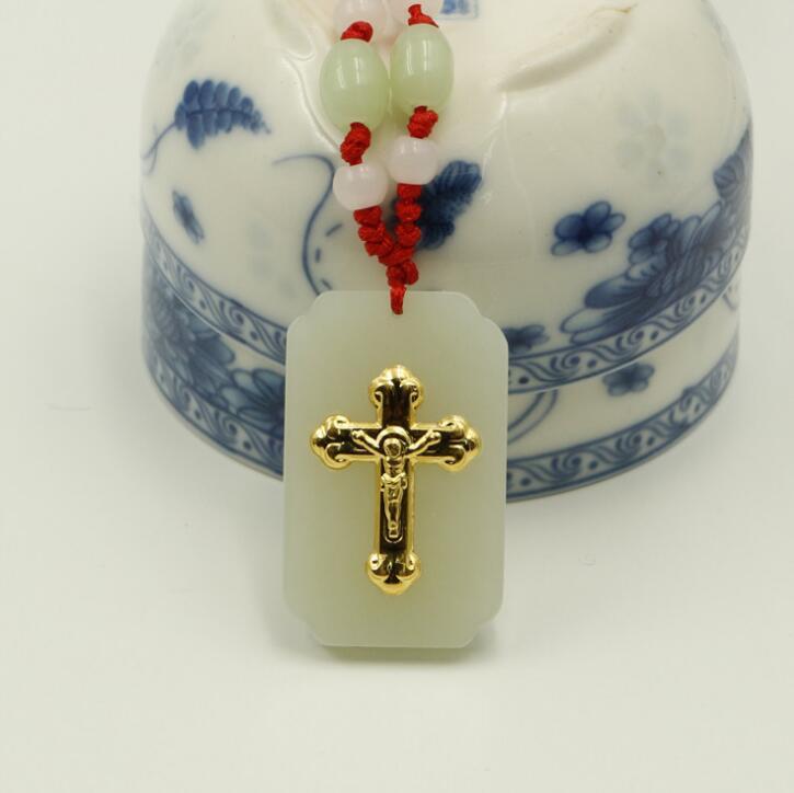 Одежда высшего качества крест украшения для Для мужчин/Для женщин jade Цепочки и ожерелья на Лидер продаж унисекс Подвески