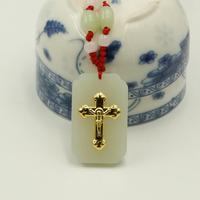 Top Quality Cross Jewelry For Men Women Jade Necklace On Hot Selling Unisex Pendants