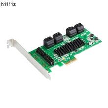 PCI E SATA Kartı PCI Express SATA3.0 8 Port genişletme kartı PCIE PCI E SATA 3 SATA3 Denetleyici Marvell Çift Çip HDD SSD