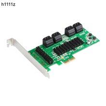 PCI E SATA Pci Express per SATA3.0 8 Porte Scheda di Espansione PCIE PCI E SATA 3 SATA3 Controller Marvell Doppio di Chip per HDD SSD