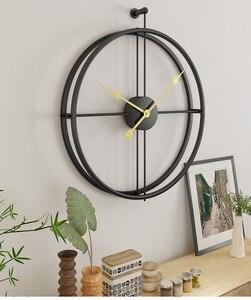 Image 3 - 80CM Große Wanduhr Moderne Design Uhren Für Wohnkultur Büro Europäischen Stil Hängenden Wand Uhr Uhren