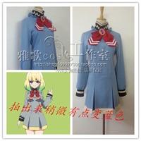 Japan Anime Sousei no Onmyouji Otomi Mayura Cosplay Costume JK School Uniform Dress+Tie+Socks