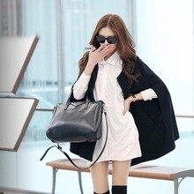 Women Lady Cloak Poncho Coat Loose Fashion Outwear Medium Length Clothing For Winter MSJ99