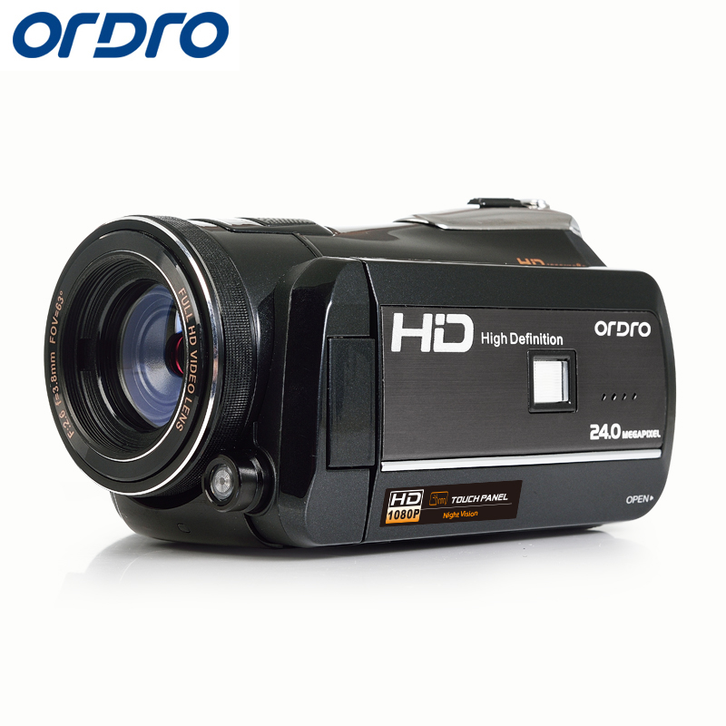 ORDRO HDV D395 HD 1080P 18X Камера s 3,0 Сенсорный экран цифрового видео Камера 24MP Разрешение сенсорный Экран пульт дистанционного управления