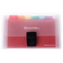 A6 Rainbow Expanding Document Bills Folder 13 Pocket School Accordion