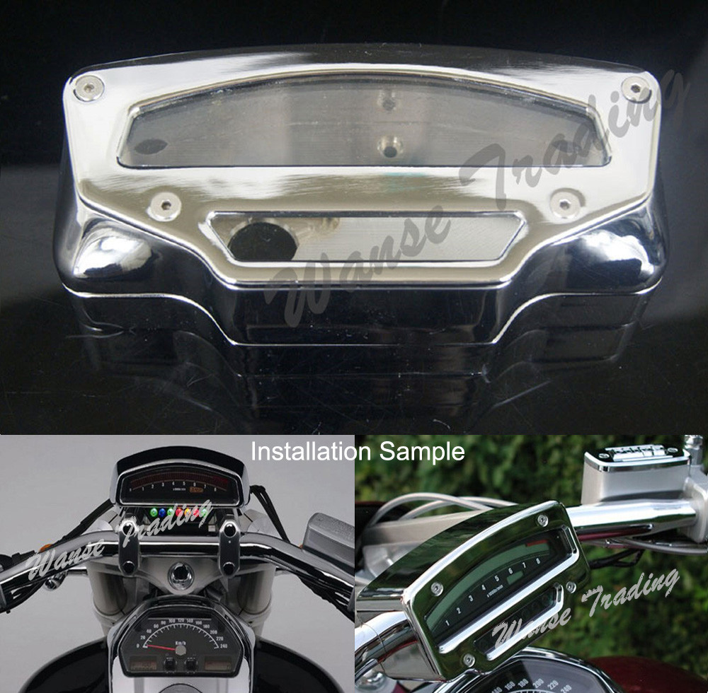 Motorcycle Tach Tacho Gauge Meter Housing Cover Chrome Polished For 2006 2007 2008 2009 2010-2016 SUZUKI Boulevard M109R VZR1800 car rear trunk security shield cargo cover for jeep compass 2007 2008 2009 2010 2011 high qualit auto accessories