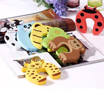 2/5 Pcs Lock Jammers Kid Finger Protector Cute Cartoon Animal Home Improvement Baby Safety Door Stopper Hardware 1