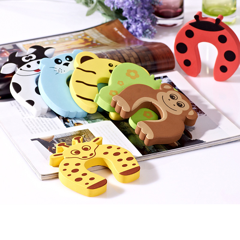 2/5 Pcs Lock Jammers Kid Finger Protector Cute Cartoon Animal Home Improvement Baby Safety Door Stopper Hardware