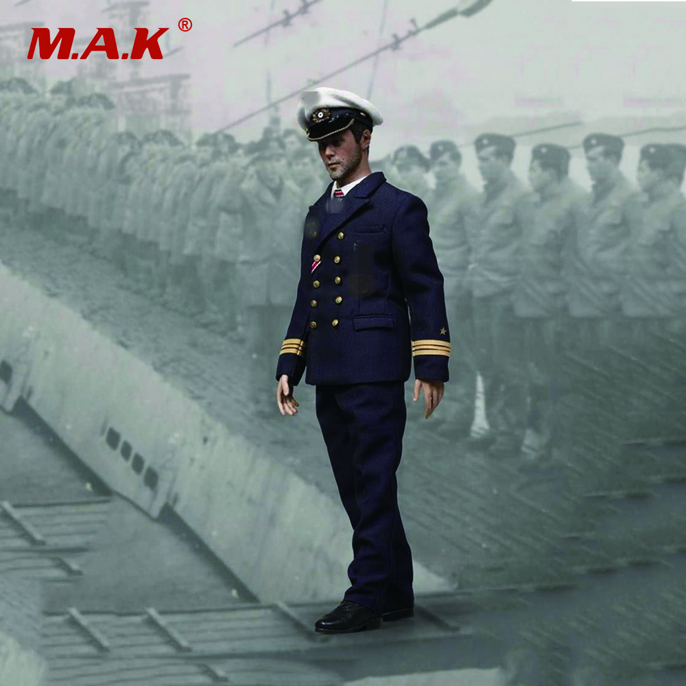 1/6 Scale WWII Full Set Soldier Action Figure U-Boat Captian Man Doll For collections Toys Gifts 1 6 scale nude male body figure muscle man soldier model toys for 12 action figure doll accessories