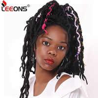Leeons Crochet cheveux tresses 12/18 pouces Faux Locs bouclés cheveux synthétiques pré boucle Crochet Extension de cheveux déesse Nu Locs brun noir