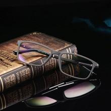 Дизайнерские Модные очки TR90 оправа для очков Ультралегкая близорукость для мужчин и женщин ретро коробка для глаз оправа для оптических очков 164