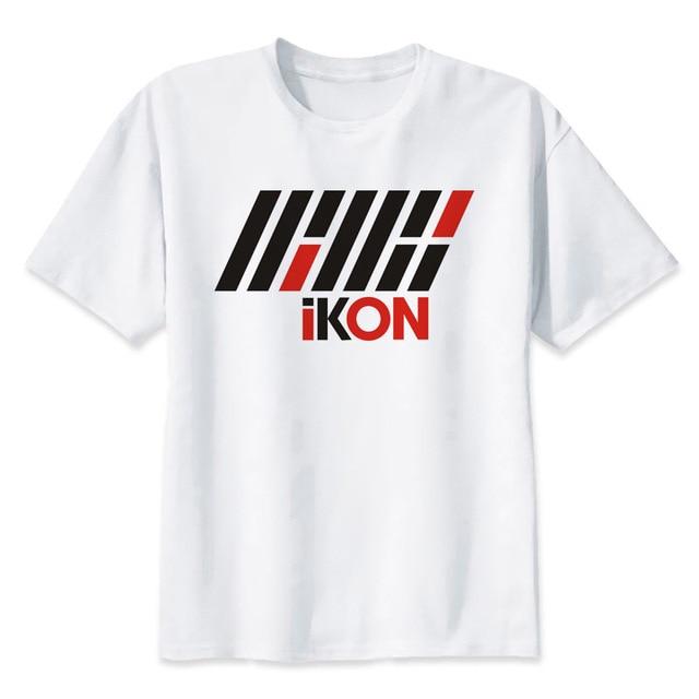 813f3855 Kpop k-pop k pop iKON t shirt Men anime T-Shirt Men Tops boy Short Sleeve t- shirt top Tee Clothes MMR553