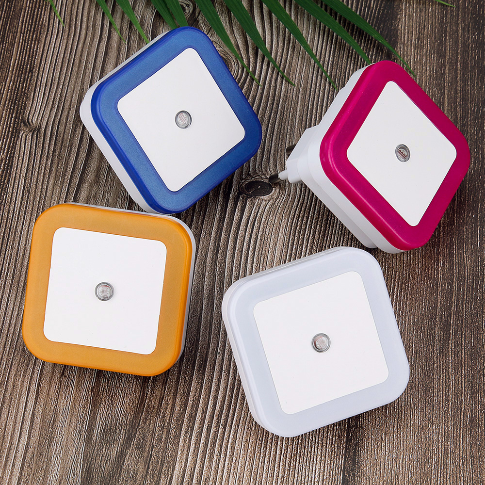 Anpro Led Night Light Sensor Control Induction Energy Saving Sleeping Lamp EU/US Plug Bedroom Lamp For Baby Kids Sleep Light