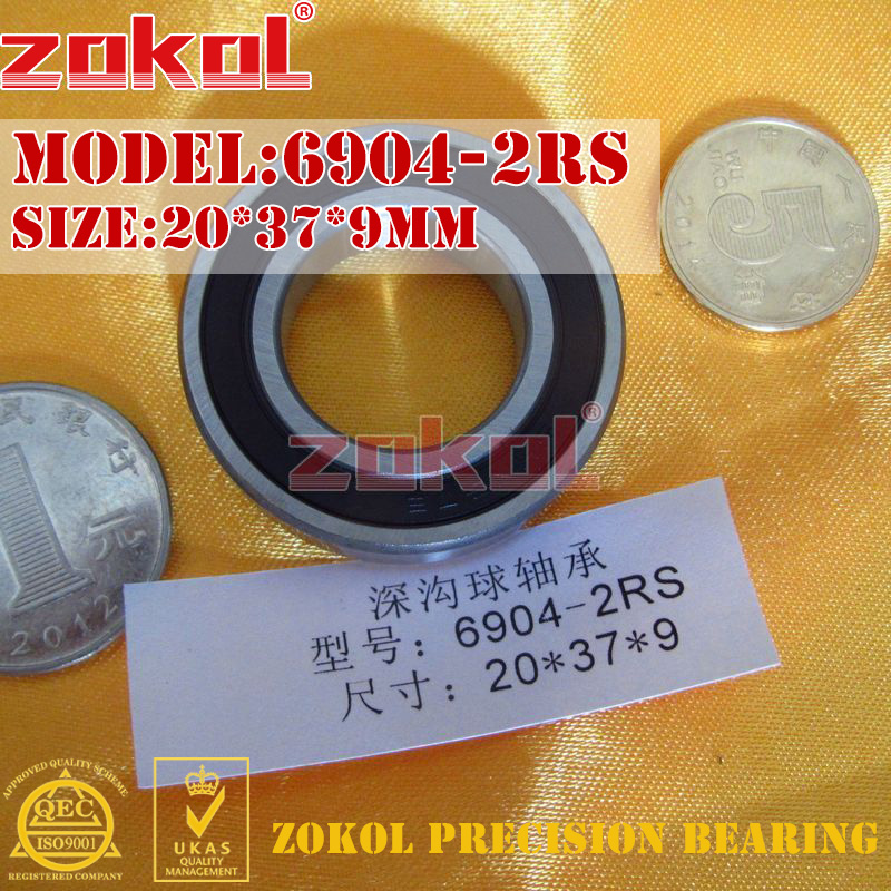 ZOKOL 6904 RS Bearing 6904 2RS ZZ Z1 6904ZZ 6904-2RS/Z1 Deep Groove Ball Bearing 20*37*9mm