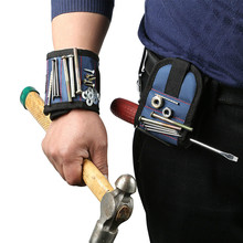 Strongest Magnetic Portable Wristband for Holding Screws Nails Drill Bits Best Magnetic Tool For Mechanics Drop Shipping strong magnetic wristband bracelet portable tool bag for holding screws nails drill bits tool wrist belt magnetic wristband