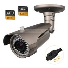 CCTV AHD 2.0MP Full HD 1080P 3.6mm Lens IR-Cut Camera 1/3 Sony Chip OSD