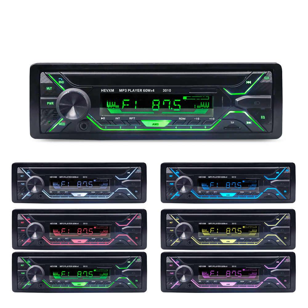カーラジオステレオプレーヤー Bluetooth 電話 AUX-IN MP3 FM/USB/1 Din/リモート制御 12V 車オーディオ自動販売新