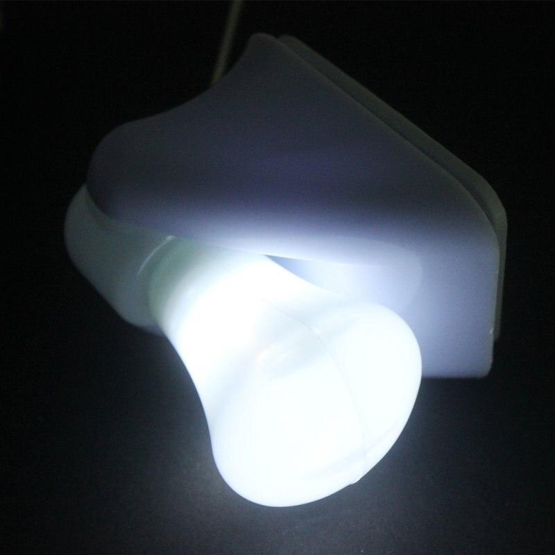LED Bulb Portable Cabinet Lamp Night Light Battery Self Adhesive Wall Mount