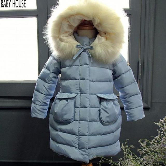 aecb144f6 2017 New Long Brand Kids Coats Girls Winter Warmer Thickness Jacket ...