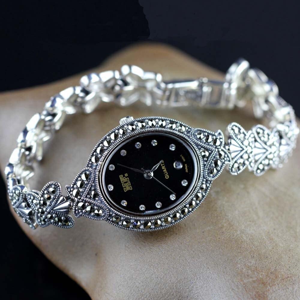 925 prata esterlina relógio real prata