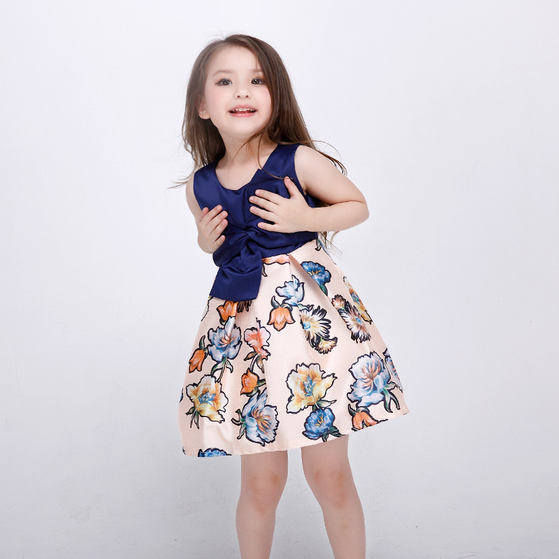 501bdbe8c Flower Girl Dress Winter Toddler Children Clothing Brand Kids Clothes for Girls  sleeveless Vintage Fashion Wedding Party HB2137-in Dresses from Mother ...