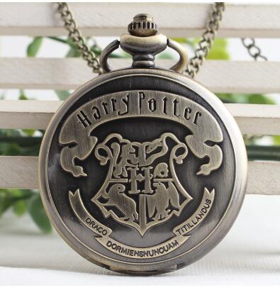 Pocket Watches Vintage School Hogwarts SLYTHERIN RAVENCLAW Pocket Watch Quartz With Chain Necklace Pendent For Men Gift