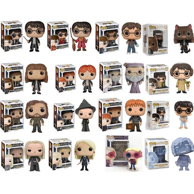 Funko POP Harry Potter Snape, Rúbeo, Luna, Dobby, ALBUS DUMBLEDORE RON WEASLEY Hermione Figura de Ação Dolls Figura Coleção
