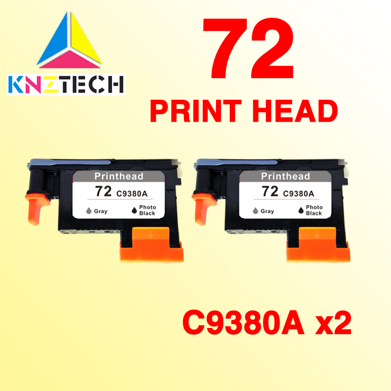 2PK print head compatible for hp 72 C9380A Gray/Photo Black T790/T1100/T1120/T1200/ T1300/T2300 printhead